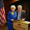 New Hampshire State Senator Nancy Stiles representing the 24th District poses for a photo with 20th District Senator Lou D'Allesandro at Senator Stiles retirement party on Wednesday at the Ashworth By The Sea on 10-12-2016.  Matt Parker Photos