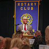 Hampton Rotary President Richard Gibadlo welcomes Joe Higgins and his family, friends and the Rotary members to the event honoring Joe Higgins of the Old Salt Restaurant as Joe was awarded the 2016 Rotary Club of Hampton Distinguished Citizen of the Year, on Tuesday 11-15-2016 @ Ashworth By the Sea.  Matt Parker Photos