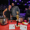 """Jason Miles was serving up his, """"Sweet Angus Beef"""" chili which took 1st place in this event in 2015 with Dawn Pearson of Stacey Janes serving up her, """"Beef N' Bean"""" chili at the Hampton Fire Fighter Toy Bank and Chili Cook-off Fundraiser on Thursday 11-17-2016 @ Wally's Pub, Hampton Beach, NH.  Matt Parker Photos"""