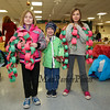 3rd grader Moxie Clifford with brother Tatum (kindergarten) and sister 4th grader Maitri pose for a photo with their paper chains at the Annual Hampton PTA Breakfast with Santa on Saturday @ Hampton Academy on 12-10-2016.  Matt Parker Photos