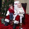 Kindergartener Noelle Macdonald with brother Thomas (preschool) gets their picture taken with Santa at the Annual Hampton PTA Breakfast with Santa on Saturday @ Hampton Academy on 12-10-2016.  Matt Parker Photos