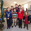 A group of kids pose for a photo at the Annual Hampton PTA Breakfast with Santa on Saturday @ Hampton Academy on 12-10-2016.  Matt Parker Photos