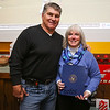 Bruins Alumni #77 Ray Bourque poses for a photo with Richie McFarland Program Records Manager and Birthday Girl Patty Small during the after party at Shootes Pub in Exeter after the Richie McFarland Children's Center Charity Hockey event between the Boston Bruins Alumni vs Team Richie on Saturday 12-17-2016 @ The Rinks at Exeter.  Matt Parker Photos