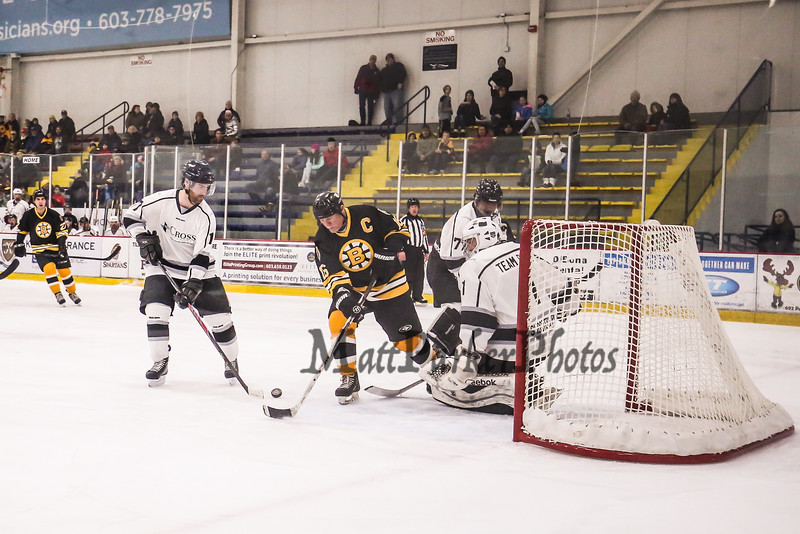 Bruins Alumni #16 Rick Middleton makes a play on the Team Richie Goalie at the Richie McFarland Children's Center Charity Hockey event between the Boston Bruins Alumni vs Team Richie on Saturday 12-17-2016 @ The Rinks at Exeter.  Matt Parker Photos