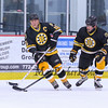 Bruins Alumni #16 Rick Middleton and #13 Ken Linseman control the puck at the Richie McFarland Children's Center Charity Hockey event between the Boston Bruins Alumni vs Team Richie on Saturday 12-17-2016 @ The Rinks at Exeter.  Matt Parker Photos