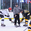 Bruins Alumni #13 Ken Linseman and Team Richie's #16 Joe Frechette take a face-off at center ice at the Richie McFarland Children's Center Charity Hockey event between the Boston Bruins Alumni vs Team Richie on Saturday 12-17-2016 @ The Rinks at Exeter.  Matt Parker Photos