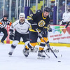 Bruins Alumni #10 Kenny Hodge makes a break up the ice with Team Richie #22 Dave Branning trailing at the Richie McFarland Children's Center Charity Hockey event between the Boston Bruins Alumni vs Team Richie on Saturday 12-17-2016 @ The Rinks at Exeter.  Matt Parker Photos