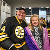 Bruins Alumni #34 Bob Beers poses for a photo with Addison Coffin of Nottingham at the Richie McFarland Children's Center Charity Hockey event between the Boston Bruins Alumni vs Team Richie on Saturday 12-17-2016 @ The Rinks at Exeter.  Matt Parker Photos