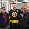 Bruins Alumni #42 Tim Sweeney poses for a phot with Hampton resident George Toscano (L) and Rye resident Matt Williams at the Richie McFarland Children's Center Charity Hockey event between the Boston Bruins Alumni vs Team Richie on Saturday 12-17-2016 @ The Rinks at Exeter.  Matt Parker Photos
