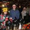 Avery Clement and Cheyenne French filling up on some hot chocolate from Victoria's Kitchen at the 2016 Annual Christmas Tree Lighting at the Gazebo at Marelli Square sponsored by the Hampton Parks & Recreation Department on Friday Night, Hampton, NH, 12-2-2016.  Matt Parker Photos