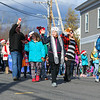 Students and Staff from Hampton Academy wave to the crowd as they march in the 2016 Experience Hampton Christmas Parade on Saturday 12-3-2016, Rt. 1 Hampton, NH.  Matt Parker Photos