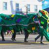The Hampton Beach Blue Ocean Society with their Sea Creature at the 2016 Experience Hampton Christmas Parade on Saturday 12-3-2016, Rt. 1 Hampton, NH.  Matt Parker Photos