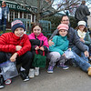 (L to R) Jonah Willwerth, Meryn Grzybowski, Madelyn with parents Josh and Jo Willwerth waiting for the parade to start at the 2016 Experience Hampton Christmas Parade on Saturday 12-3-2016, Rt. 1 Hampton, NH.  Matt Parker Photos