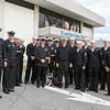 Crewmen from the UUS Hampton Submarine which is undergoing maintenance at the Portsmouth Naval Shipyard came to be honored and march in the 2016 Experience Hampton Christmas Parade on Saturday 12-3-2016, Rt. 1 Hampton, NH.  Matt Parker Photos
