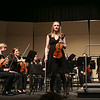 Katie McCormack, concertmaster at the UNH Concert Choir and UNH Symphony Orchestra Department of Music Concert on Sunday 12-4-2016 @ Johnson Theatre, UNH.  Matt Parker Photos