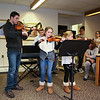 """Eagles Pride"" was played by (L to R) Stephen Porier (violin), Winnacunnet Junior Brian Coffen (chello), Marston School 4th grader Maddie Hoyt (violin), and sister, 3rd grader, Morgan (violin) at Friday's Christmas Holiday Concert and Performance for the residents of Dearborn House by music and voice students from the area schools of Centre School, Marston School, Hampton Academy and Winnacunnet High School on 12-9-2016 @ Dearborn House, Hampton, NH.  Matt Parker Photos"