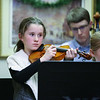 Marston School 4th grader Maddie Hoyt plays the violin at Friday's Christmas Holiday Concert and Performance for the residents of Dearborn House by music and voice students from the area schools of Centre School, Marston School, Hampton Academy and Winnacunnet High School on 12-9-2016 @ Dearborn House, Hampton, NH.  Matt Parker Photos