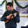 Stephen Porier plays the violin at Friday's Christmas Holiday Concert and Performance for the residents of Dearborn House by music and voice students from the area schools of Centre School, Marston School, Hampton Academy and Winnacunnet High School on 12-9-2016 @ Dearborn House, Hampton, NH.  Matt Parker Photos