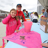 Cassie and Mom Kris Wirth decorate a kite in memory of Brendan at the Kites Against Cancer benefit for Exeter Hospital's Beyond the Rainbow Fund on a windy Sunday 5-15-2015 @ Hampton Beach Seashell stage, Hampton Beach, NH.  Matt Parker Photos