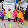 Kaidyn Wirth, Maille Carrol, Cassie Wirth and Marylou Carrol pose for a photo with their decorated kites at the Kites Against Cancer benefit for Exeter Hospital's Beyond the Rainbow Fund on a windy Sunday 5-15-2015 @ Hampton Beach Seashell stage, Hampton Beach, NH.  Photo courtsey of Kris Wirth