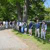 Veterans line up in the shade on Saturday at the Newfields Landing while waiting for the start of the Newfields Memorial Day Parade and Picnic honoring Veterans for their service to our country on Saturday 5-28-2016, Newfields, NH.  Matt Parker Photos