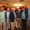 (L to R) Kevin Crowley, Steve O'Connor, Steven Henderson and son Dan Henderson with Richard Pappalardo and Eric Pappalardo pose for a photo honoring Steve for his 30 years of service to the Rockingham communities on Friday @ the Ashworth By the Sea, Hampton Beach on 5-6-2016.  Matt Parker Photos