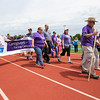Cancer survivor walkers on the opening Cancer Survivor Lap at the American Cancer Society of New Hampshire 2016 Seacoast Relay for Life Cancer walk on Saturday 6-11-2016 @ Winnacunnet High School.  Matt Parker Photos