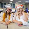Leanne Hurd and Alyssa Perzanoski pose for a photo prior to the start of the Winnacunnet Class of 2016 Graduation Cermony on Friday 6-17-2016 @ WHS.  Matt Parker Photos