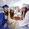 Abby Arsenault, Daelen Kenney and Amelia Margolis get ready for the start of the Winnacunnet Class of 2016 Graduation Cermony on Friday 6-17-2016 @ WHS.  Matt Parker Photos