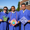 Alex Lighthall, Brandon Barbour-Grissom and Thomas Miller get ready for the Winnacunnet Class of 2016 Graduation Ceremony on Friday 6-17-2016 @ WHS.  Matt Parker photos