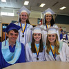 Soon to be graduates pose for a photo prior to the start of the Winnacunnet Class of 2016 Graduation Cermony on Friday 6-17-2016 @ WHS.  Matt Parker Photos
