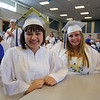 Naomi Fowler and Brooke Putman pose for a photo prior to the start of the Winnacunnet Class of 2016 Graduation Cermony on Friday 6-17-2016 @ WHS.  Matt Parker Photos