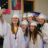"""Rachel Laroche takes a, """"selfi"""" with her friends  prior to the start of the  Winnacunnet Class of 2016 Graduation Cermony on Friday 6-17-2016 @ WHS.  Matt Parker Photos"""