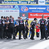 The Matco Tools Dragster team celebrates their win in the Top Fuel Dragster class at the NHRA New England Nationals Finals on Monday 6-6-2016 @ New England Dragway, Epping, NH.  Matt Parker Photos