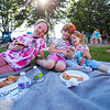 Sisters, 9 year old Emerson, 6 yr Cailan and 2 yr Adrienne Field enjoying a pizza party picnic at the Lane Memorial Library Summer Reading Finale Party on Tuesday @ Centre School, Hampton, NH 8-2-2016.  Matt Parker Photos