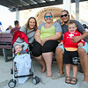 (L to R) 9 month old Alex Michaels, Kristen and Cady Michaels, Craig Silva and Andy Michaels came from CT to visit Hampton Beach and see the 2016 12th Annual Hampton Beach Talent Competition Finals on Sunday @ The Hampton Beach Seashell Stage, Hampton Beach, NH on 8-28-2016.  Matt Parker Photos