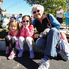 Leah Scrafford of East Kingston with her Grand Daughters Jurry and Ellina Kim of Stratham pose for a photo while waiting for the start of Stratham's 300th Anniversary Parade held on Sunday, 9-25-2016, Stratham Town Center-RT 33.  Matt Parker Photos