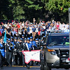 Exeter High Schools Blue Hawk Marching Band leads the parade as they march down the center of Rt. 33 at Stratham's 300th Anniversary Parade held on Sunday, 9-25-2016, Stratham Town Center-RT 33.  Matt Parker Photos