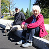 Lou and Sharon Stamas of Stratham found a front row seat in anticipation for the start of Stratham's 300th Anniversary Parade held on Sunday, 9-25-2016, Stratham Town Center-RT 33.  Matt Parker Photos