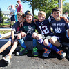 Stratham Middle School Students (L to R) Isiah Cavarretta, Angelo and Enzo Annacone and Jonah Cavarretta get prime seating while waiting for the start of Stratham's 300th Anniversary Parade held on Sunday, 9-25-2016, Stratham Town Center-RT 33.  Matt Parker Photos