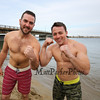 Hampton residents Patrick Millerick and Roy Collins getting ready for a swim at the 2016 Chucky's Fight Freezin' For a Reason New Years Eve Dip on Saturday 12-31-2016 @ Seabrook Beach, NH.  Matt Parker Photos
