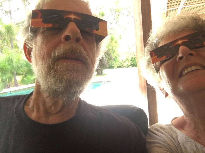 watching eclipse