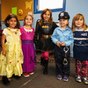 (L to R) Natalie Newman, Lucy Ruffus, Molly Ruffus, Grace LaBrecque and Bella Cuceu dressed in their costumes at the Halloween in Hampton event sponsored by the Hampton Rec. Department on Friday October 27th at Tuck Field, Hampton, NH.  Matt Parker Photos