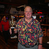 Rusty Bridle of Hampton with his 1st place trophy in the Individual catagory at the 2017 Hampton Firefighters Toy Bank Annual Chili Cook Off on Thursday at Wally's Pub on 11-16-2017, Hampton Beach, NH.  Matt Parker Photos