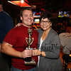 Nate Ducharme of Bedford Fire with his Mom and his trophy at the 2017 Hampton Firefighters Toy Bank Annual Chili Cook Off on Thursday at Wally's Pub on 11-16-2017, Hampton Beach, NH.  Matt Parker Photos