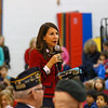 Principal Lois Costa gives closing remarks and thanks the Veterans, families and friends for attending the Marston School Veterans Day ceremony on Thursday 11-9-2017 @ Marston School, Hampton, NH.  Matt Parker Photos