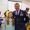 Tech Sergeant Chad Duprey poses for a photo with his 5th grade daughter Hailey at the Marston School Veterans Day ceremony on Thursday 11-9-2017 @ Marston School, Hampton, NH.  Matt Parker Photos