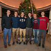 Winnacunnet Warriors pose for a photo at the 2017 Annual Christmas Tree Lighting at the Gazebo at Marelli Square sponsored by the Hampton Parks & Recreation Department on Friday Night, Hampton, NH, 12-1-2016.  Matt Parker Photos