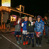 (L to R) 3rd graders Niko Orestis, Brodie Cain, Andrew Bryan and Sheamus Rafferty with their hot chocolate and pop corn from the Depot Cafe' at the 2017 Annual Christmas Tree Lighting at the Gazebo at Marelli Square sponsored by the Hampton Parks & Recreation Department on Friday Night, Hampton, NH, 12-1-2016.  Matt Parker Photos