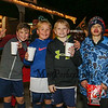 (L to R) 3rd g1raders Niko Orestis, Brodie Cain, Andrew Bryan and Sheamus Rafferty with their hot chocolate and pop corn from the Depot Cafe' at the 2017 Annual Christmas Tree Lighting at the Gazebo at Marelli Square sponsored by the Hampton Parks & Recreation Department on Friday Night, Hampton, NH, 12-1-2016.  Matt Parker Photos